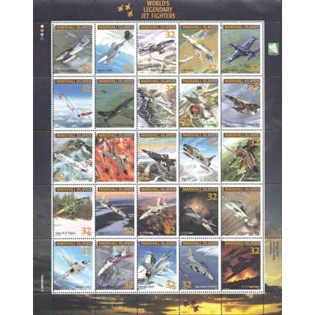 Les avions de légende 50 timbres neufs
