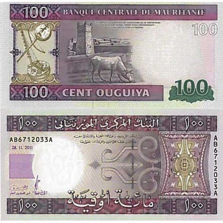 Billets de collection Billet de banque collection Mauritanie - PK N° 16 - 100 Quguiya Billets de Mauritanie 4,00 €