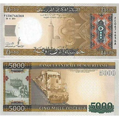 Billets de collection Billet de banque collection Mauritanie - PK N° 21 - 5000 Quguiya Billets de Mauritanie 53,00 €