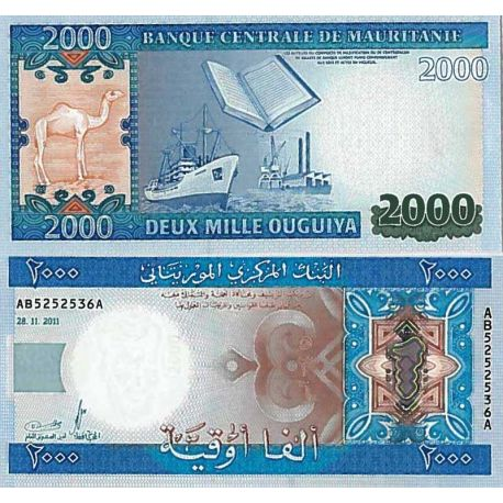 Billets de collection Billet de banque collection Mauritanie - PK N° 20 - 2000 Quguiya Billets de Mauritanie 33,00 €