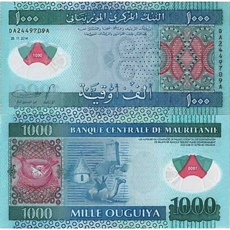 Billets de collection Billet de banque collection Mauritanie - PK N° 19 - 1000 Quguiya Billets de Mauritanie 17,00 €
