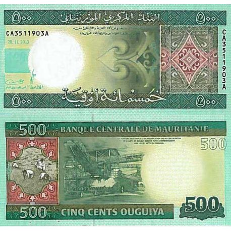 Billets de collection Billet de banque collection Mauritanie - PK N° 18 - 500 Quguiya Billets de Mauritanie 10,00 €