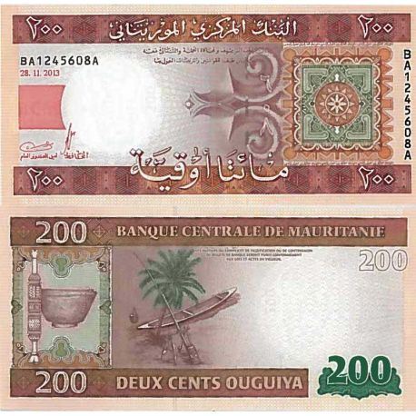 Billets de collection Billet de banque collection Mauritanie - PK N° 17 - 200 Quguiya Billets de Mauritanie 5,00 €