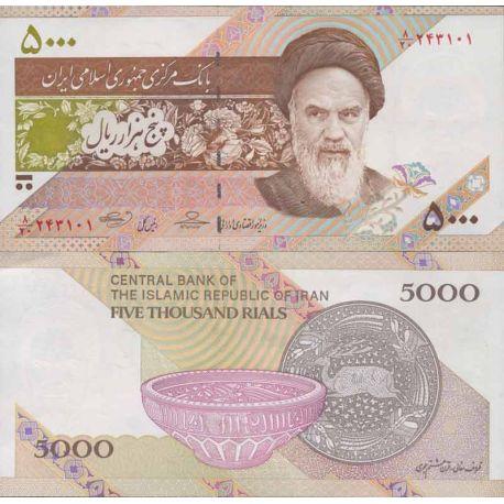 Billets de collection Billet de banque collection Iran - PK N° 152 - 5000 Rials Billets d'Iran 3,00 €