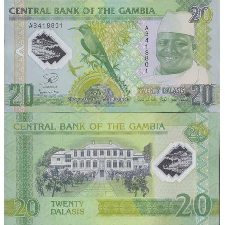 Billet de banque collection Gambie - PK N° 999 - 20 Dalasis