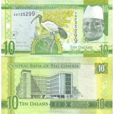 Billet de banque collection Gambie - PK N° 999 - 10 Dalasis