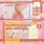 Billet de banque collection Gambie - PK 31 - 5 Dalasis