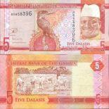 Schone Banknote Gambia Pick Nummer 999 - 5 Dalasi 2015