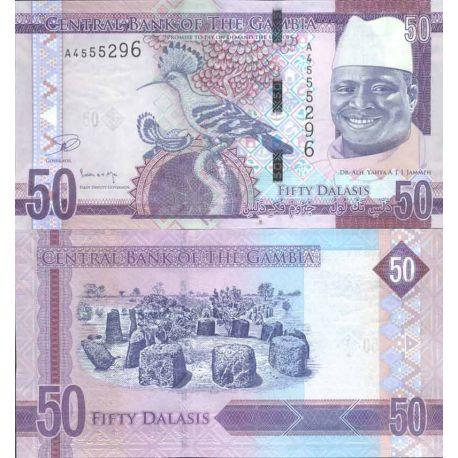 Billets de collection Billet de banque collection Gambie - PK N° 34 - 50 Dalasis Billets de Gambie 10,00 €