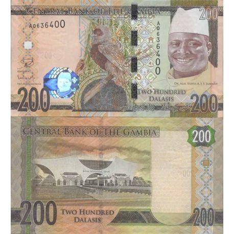 Billet de banque collection Gambie - PK N° 999 - 200 Dalasis