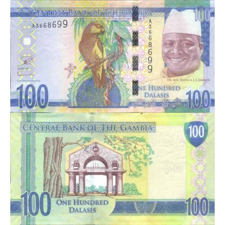 Billet de banque collection Gambie - PK N° 999 - 100 Dalasis