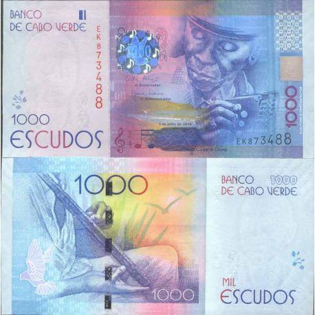 Billet de banque collection Cap Vert - PK N° 999 - 1000 Escudos