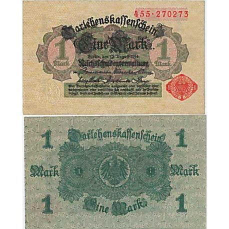Billet de banque collection Allemagne - PK N° 50 - 1 Mark