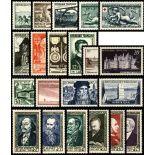 Briefmarken Frankreich 1952 in neuem ganzem Jahr