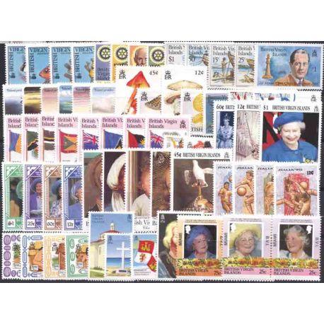 Collection de 29 timbres neufs Iles Vierges