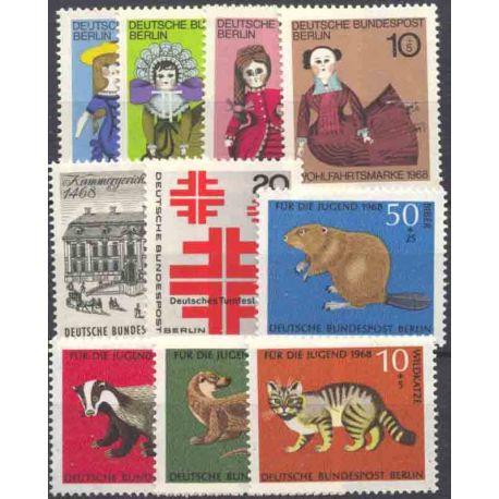 Allemagne Berlin Année 1968 Complète timbres neufs