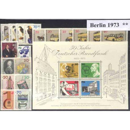 Allemagne Berlin Année 1973 Complète timbres neufs
