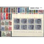 Deutschland die BRD Année 1964 vervollständigt neu