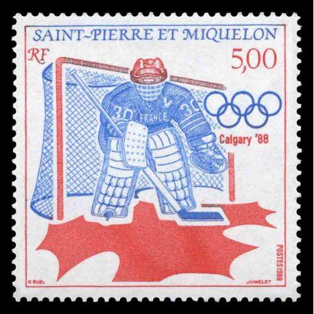 Timbre collection Saint Pierre et Miquelon - Yvert et Tellier N° 487 - Neuf sans charnière