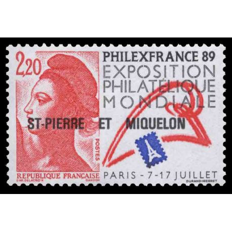 Timbre collection Saint Pierre et Miquelon - Yvert et Tellier N° 489 - Neuf sans charnière