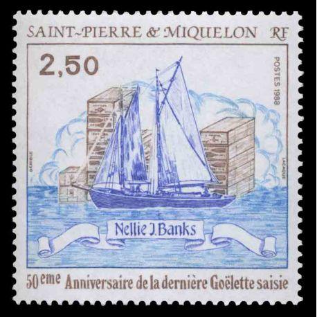Timbre collection Saint Pierre et Miquelon - Yvert et Tellier N° 492 - Neuf sans charnière