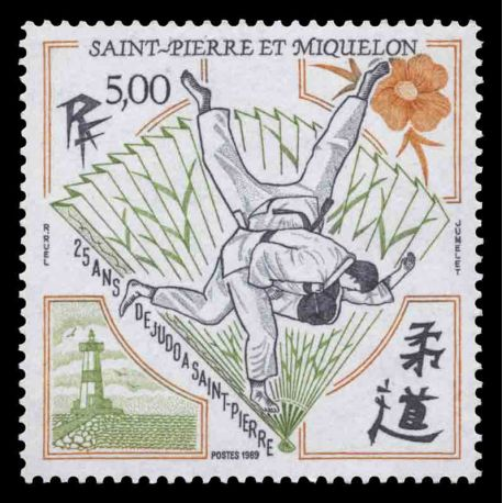 Timbre collection Saint Pierre et Miquelon - Yvert et Tellier N° 498 - Neuf sans charnière