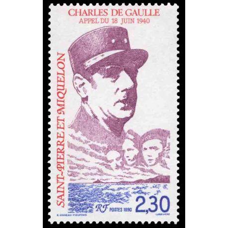 Timbre collection Saint Pierre et Miquelon - Yvert et Tellier N° 521 - Neuf sans charnière