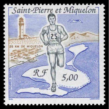 Timbre collection Saint Pierre et Miquelon - Yvert et Tellier N° 522 - Neuf sans charnière
