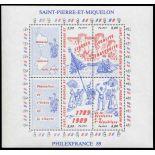 Timbre collection Saint Pierre et Miquelon - Yvert et Tellier N° Bloc 3 - Neuf sans charnière