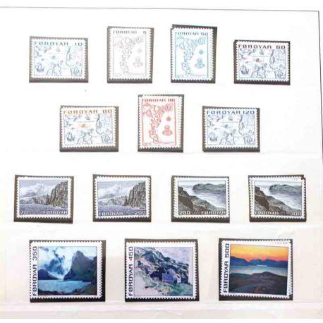 Collection des Féroé 1975 à 1987