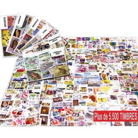 Classeur 64 pages noires + 1000 timbres