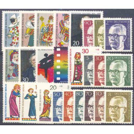 Allemagne Berlin Année 1970 Complète timbres neufs