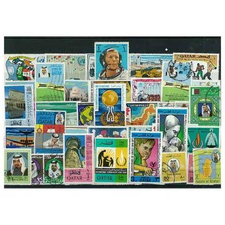 Collection de timbres Qatar oblitérés