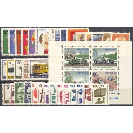 Allemagne Berlin Année 1971 Complète timbres neufs