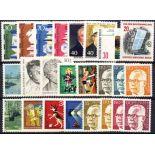 Deutschland Berlin Année 1972 vervollständigt neue Briefmarken