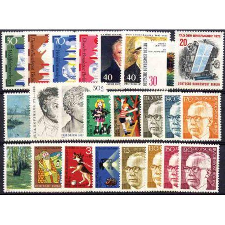 Allemagne Berlin Année 1972 Complète timbres neufs
