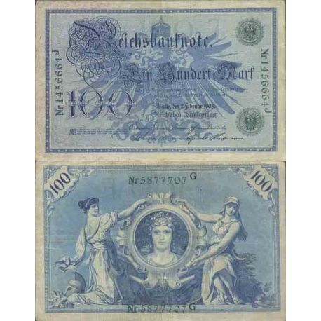 Billet de banque collection Allemagne - PK N° 33 - 100 Mark