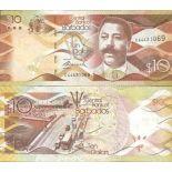 Billete de banco colección las Barbados - PK N° 75 - 10 Dólares
