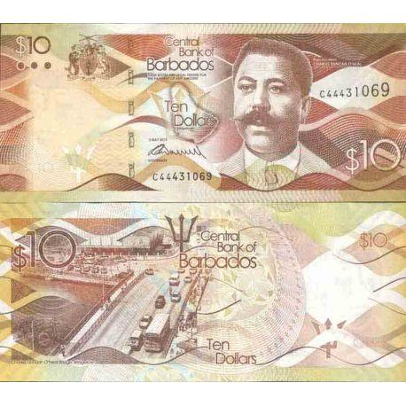 Banknote Barbados collection - km No N° 75 - 10 Dollars