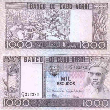 Banknote collection Cap Verde - km No N° 56 - 1000 Escudos