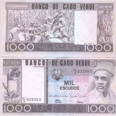 Billete de banco colección Cabo Verde - PK N° 56 - 1000 Escudos