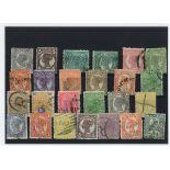 Queensland Sammlung Von gestempelt Briefmarken
