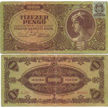Billet de banque collection Hongrie - PK N° 119 - 10000 Pengo