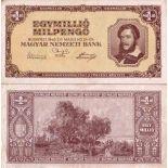 Banconote collezione Ungheria - PK N° 128 - 1000000 Pengo