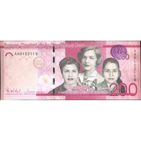 Billets de collection Billet de banque collection Republique Dominicaine - PK N° 191 - 200 Peso Billets de République Dominic...