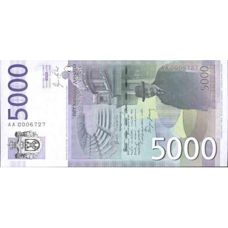 Billet de banque collection Serbie - PK N° 53 - 5000 Dinara