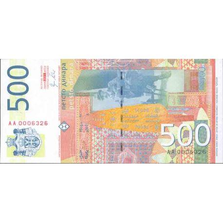 Billet de banque collection Serbie - PK N° 59 - 500 Dinara