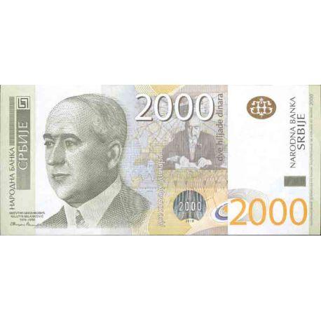 Billet de banque collection Serbie - PK N° 61 - 2000 Dinara