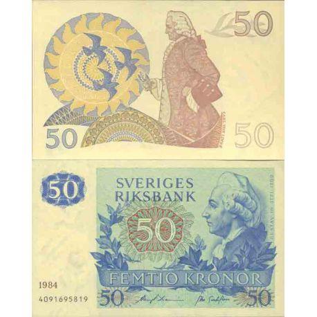 Billet de banque collection Suede - PK N° 53 - 50 Kronor