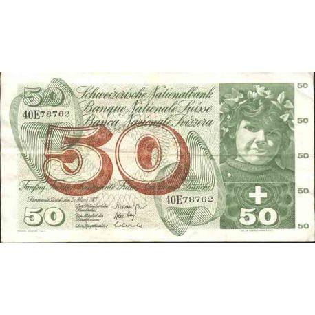 Billete de banco colección Suiza - PK N° 48 - 50 FRANCO
